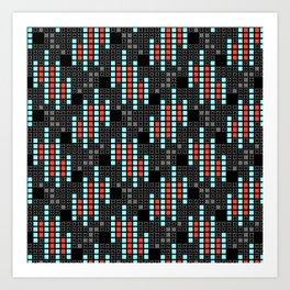 BRIXHAM, VINTAGE RETRO SQUARES: SIXTIES OFFICE Art Print
