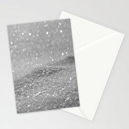Glitter Silver Stationery Cards