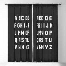 Typography Alphabet #3 Blackout Curtain