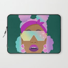 Top Puffs Girl #naturalhair #rainbowhair #shades #lipstick #blackunicorn #curlygirl Laptop Sleeve