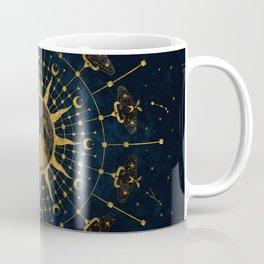 Steampunk Zodiac with Sun and Moon (Blue) Coffee Mug