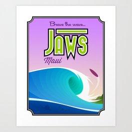 Landmarks of Life™: Jaws, Maui Art Print