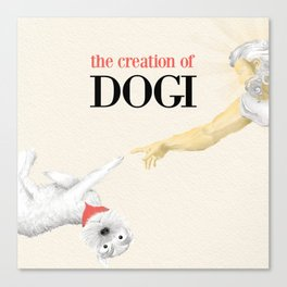 The Creation of Dogi Canvas Print