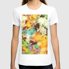 A distorted impact T-shirt