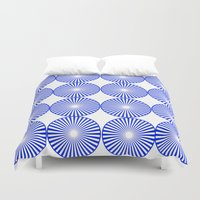 circles Duvet Covers featuring Circles by Saundra Myles