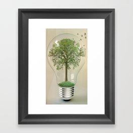 green ideas 02 Framed Art Print