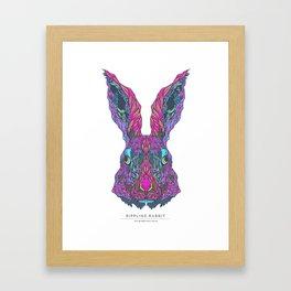 The Mindfulness Series: The Rippling Rabbit Framed Art Print
