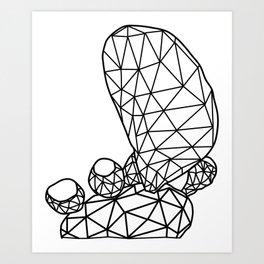 Geometric Prickly Pear Cactus III Art Print