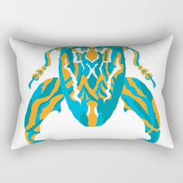Sagra Beetle _ Psychedelic bug 3.2 _ Besouro Independente Rectangular Pillow