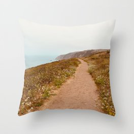 Hiking Point Reyes Throw Pillow
