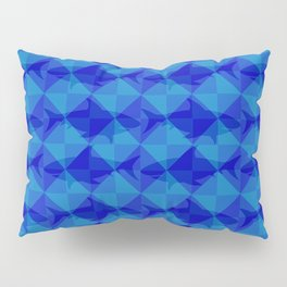 Blue Shark Square. Pillow Sham
