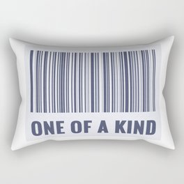 One of a kind - barcode quote Rectangular Pillow