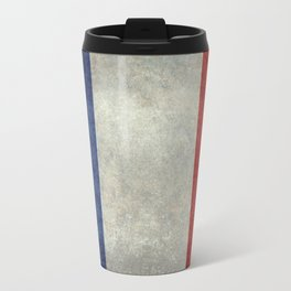 Flag of France, vintage retro style Travel Mug