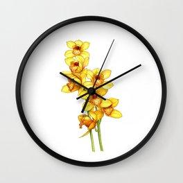 Cymbidium Orchid Wall Clock