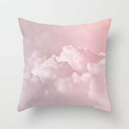 COTTON CANDY PASTEL CLOUDS Throw Pillow