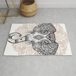 Elephant on Mandala Rug