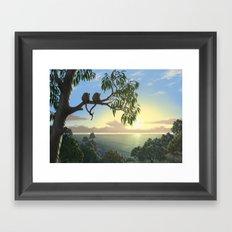 Lovers View Framed Art Print