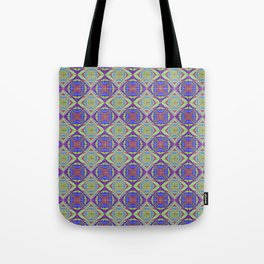 One Block Wonder Quilt - Red Blue Greens Tote Bag
