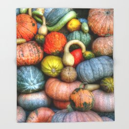 Fall crop Throw Blanket