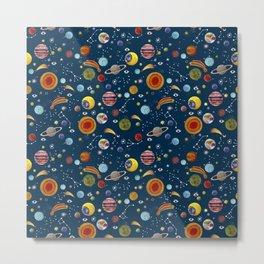 Interplanetary space pattern. Metal Print