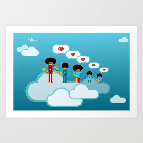 Jacksons Pixel Art Art Print