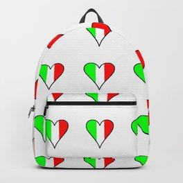 flag of Italia heart- Italy,Italia,Italian,Latine,Roma,venezia,venice,mediterreanean,Genoa,firenze Backpack