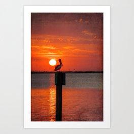Sunset Watcher Art Print