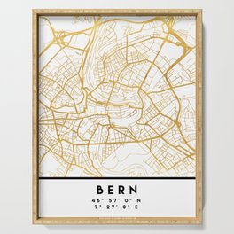 BERN SWITZERLAND CITY STREET MAP ART Serving Tray