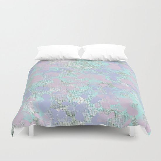 Soft Painterly Floral Abstract Duvet Cover