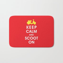 Keep Calm and Scoot On (For the Love of Scooters) Bath Mat