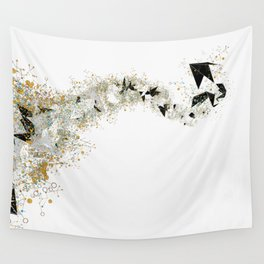 Origami Stream Wall Tapestry