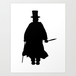 Jack the Ripper Silhouette Art Print