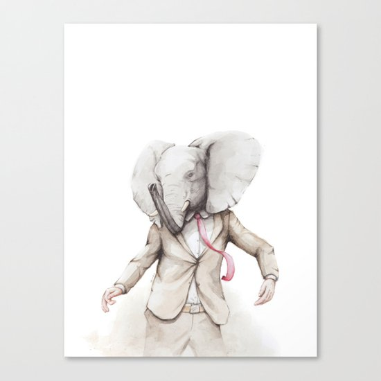 Elephant Dance Canvas Print