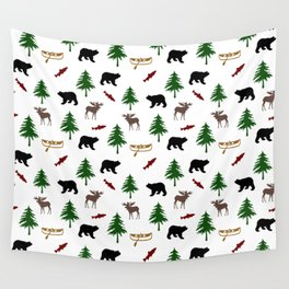 Moose Bear Wall Tapestry