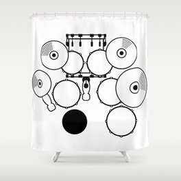Heartbeats Drumset Shower Curtain
