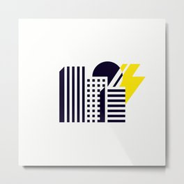 Thunder Over Town Metal Print