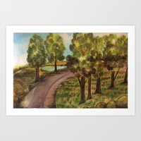 A Jaunt Down A Less Traveled Road Art Print