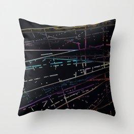 Neon Disco Throw Pillow