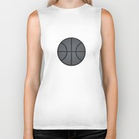 basketball Biker Tanks featuring BASKETBALL- basketball by Raisya