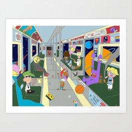 Subway Scene Art Print