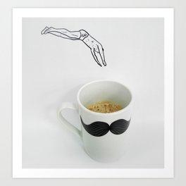 Morning swim - By Teti Art Print