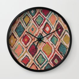 V38 EPIC ANTHROPOLOGIE MOROCCAN CARPET TEXTURE Wall Clock