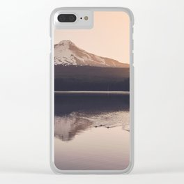 Wild Mountain Sunrise Clear iPhone Case