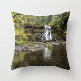 Upper North Falls Throw Pillow