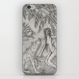 Nude and wolf iPhone Skin