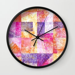 Soft Hued Colors Collage Wall Clock