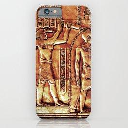 Egyptian Thoth Horus Hieroglyph Pyramid iPhone Case
