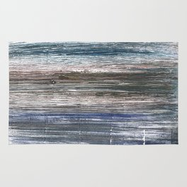 Black Coral abstract watercolor Rug