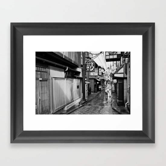 Pontocho in the Morning, Kyoto Framed Art Print