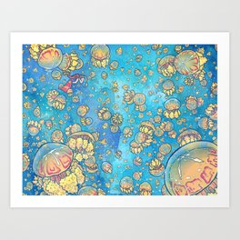 Jellyfish Lake Art Print